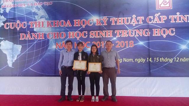 Cuộc thi Khoa học-Kỹ thuật cấp cấp tỉnh, năm học 2017-2018